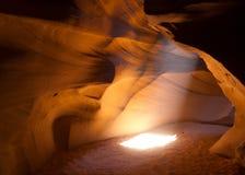 каньон Аризоны антилопы понижает страницу Стоковое фото RF