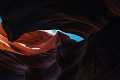 каньон Аризоны антилопы понижает страницу Стоковые Фотографии RF