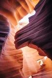 каньон Аризоны антилопы понижает страницу Стоковое Фото