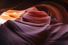каньон Аризоны антилопы понижает страницу Стоковые Фото