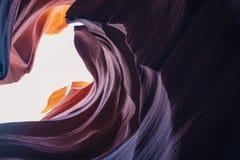каньон Аризоны антилопы понижает страницу Стоковая Фотография RF