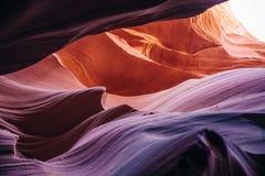каньон Аризоны антилопы понижает страницу Стоковые Изображения
