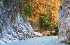 каньон внутри saklikent стоковые фото