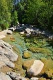 Каньон воды в Корсике Стоковое Изображение