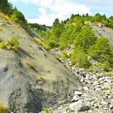 Каньон в Альпах Стоковое Изображение RF
