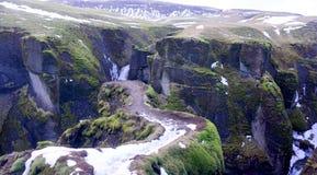 Каньон в Исландии стоковое фото rf