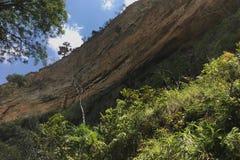 Каньон в национальном парке Isalo в Мадагаскаре Стоковое Изображение