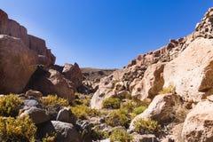 Каньон в национальном заповеднике фламенко Лос стоковое фото