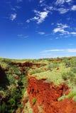 Каньон в национальном парке Karijini, западная Австралия Стоковое Изображение RF
