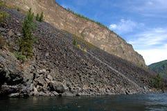 Каньон в реке Kyzyl-Khem Стоковые Изображения