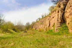Каньон в северной Германии Стоковое Фото