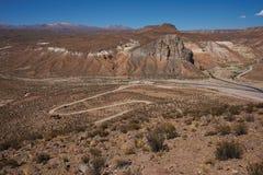 Каньон в Altiplano Стоковые Изображения RF