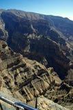 каньон грандиозный Оман Стоковые Фотографии RF