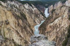 каньон грандиозный yellowstone Стоковое фото RF