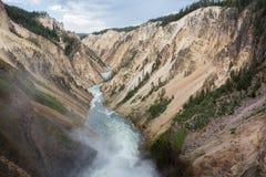 каньон грандиозный yellowstone Стоковое Изображение