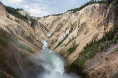 каньон грандиозный yellowstone Стоковые Фотографии RF