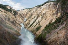 каньон грандиозный yellowstone Стоковое Фото