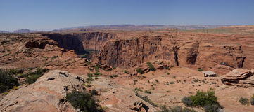 Каньон Глена, panorma Камерона (Аризона, США) Стоковые Фото