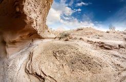 Каньон и гора пустыни стоковое фото rf