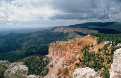 Каньон и облака Bryce Стоковое Фото