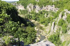 Каньон и река Emen стоковые фотографии rf
