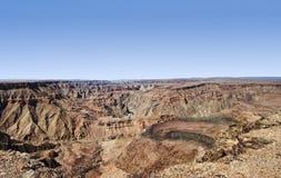 Каньон Намибия реки рыб Стоковые Фотографии RF