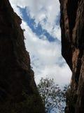 Каньон, национальный парк Сиона, Юта Стоковая Фотография RF