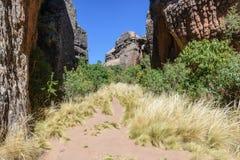 Каньон на городе Itas, национальном парке Torotoro в Potosi, Боливии стоковое изображение rf