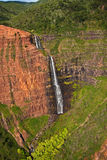 каньон падает waipoo waimea kauai Стоковое Фото
