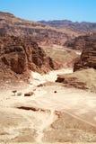 каньон покрасил Египет Стоковое фото RF