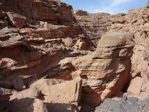 каньон покрасил Стоковое Изображение