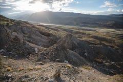 Каньон после массивнейшего землетрясения стоковая фотография