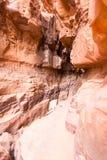 Каньон, пустыня рома вадей, Джордан Стоковые Изображения