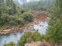 Каньон реки пера в зиме Стоковое Фото