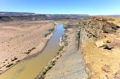 Каньон реки рыб - Намибия, Африка стоковое изображение rf