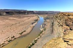 Каньон реки рыб - Намибия, Африка стоковое изображение