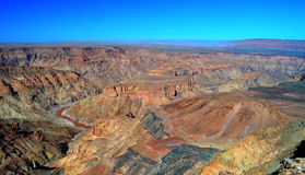 Каньон реки рыб, южная Намибия стоковые изображения rf