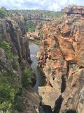 Каньон реки Blyde Стоковые Фото