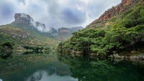 Каньон реки Bydle, Южная Африка стоковое фото