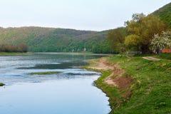 Каньон реки Dnister весны Стоковые Фото