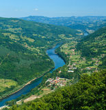 Каньон реки Drina Стоковая Фотография