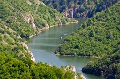 Каньон реки Uvac, Сербии стоковые фотографии rf