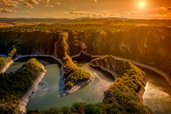 Каньон реки Uvac Стоковое фото RF