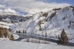 Каньон Рекы Снейк в зиме Стоковое Изображение RF