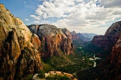 Каньон Сиона как увидено от ангелов приземляясь на национальный парк Сиона Стоковая Фотография RF