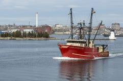 Каньон срочный выходя New Bedford рыбацкой лодки Стоковые Фото
