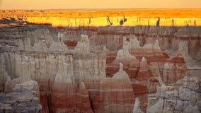 Каньон угольной шахты на заходе солнца Стоковое Изображение RF