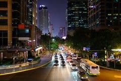 Каньон улицы в Шанхае, Китае стоковая фотография