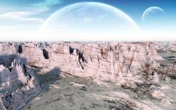 Каньон луны иллюстрация штока