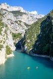 Каньон Ущелье du Verdon на юге  Франции Стоковое Фото